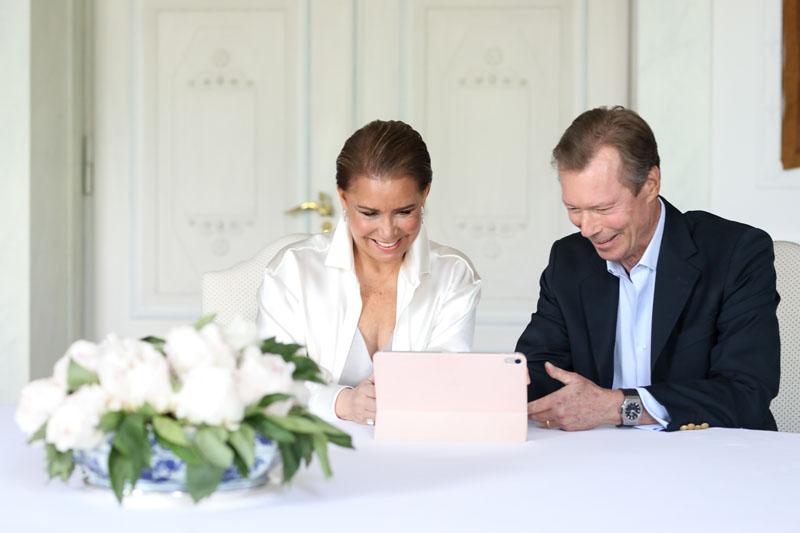 Naissance du Prince Charles - Appel vidéo avec le Couple grand-ducal