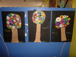 Arts visuels arbres fleurs