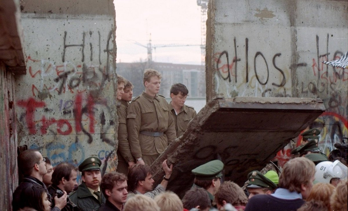 1989, 11 novembre, chute du mur de Berlin