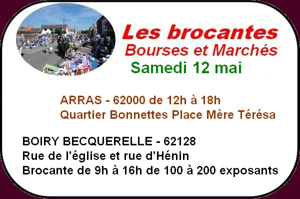 Brocantes et loisirs à Arras et ses environs ce week-end.