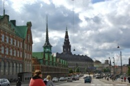 Christiansborg Palace et Ols Stock Exchange