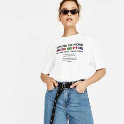 T-Shirt avec broderie drapeaux