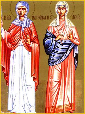 Sainte Matrone de Thessalonique († v. 304)