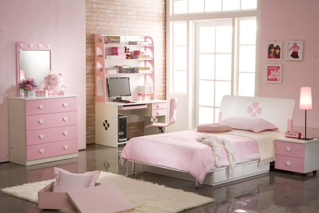 Appealing Chambre Fille Rose Et Blanc Images - Best Image Engine ...