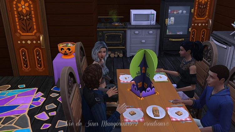 La maison de la sorcière Prudence (Halloween house) #sims4