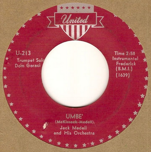 Jack Medell & His Orchestra : Umbe'