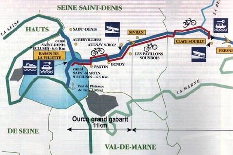 Randonnée sur le canal de l'Ourcq - 5 décembre 2016 (76 km)