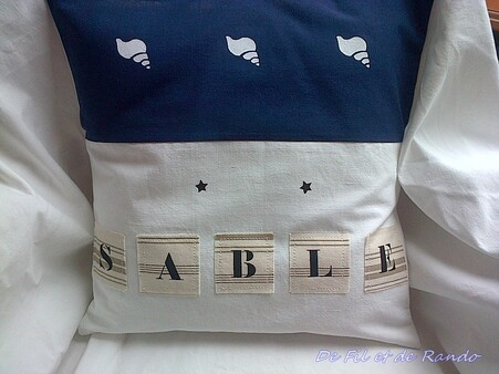 Coussin Plage/Sable bis