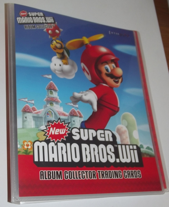 panini new super mario bros wii card 01