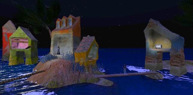 """Maisons dans l'eau : """"Musicien et sa maison"""""""