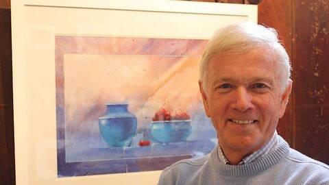 L'aquarelliste Gérard Bastien expose à la Congrégation