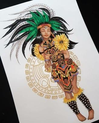 Danseuse Aztèque