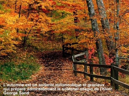 c'est bientôt l'automne