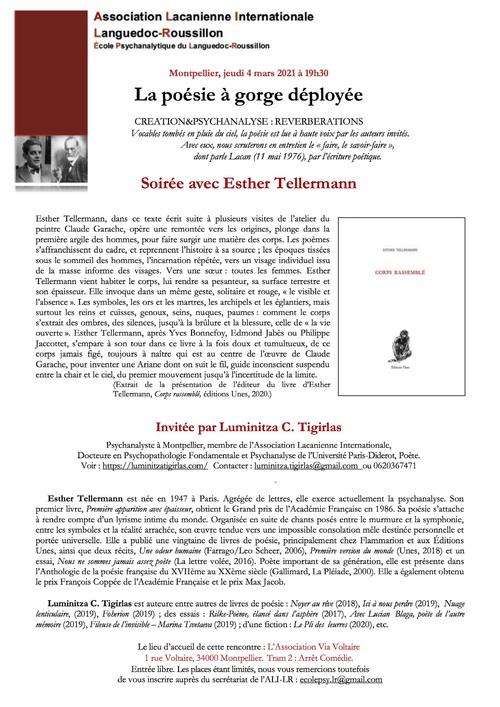 """""""La poésie à gorge déployée"""" avec Esther Tellermann"""