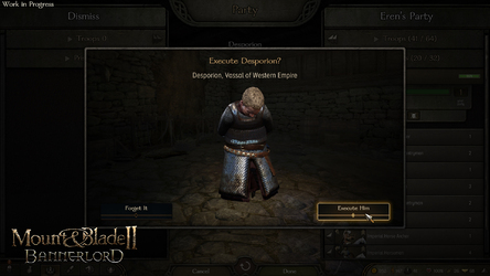NEWS : Mount and Blade 2 : Bannerlord, éxécutions*