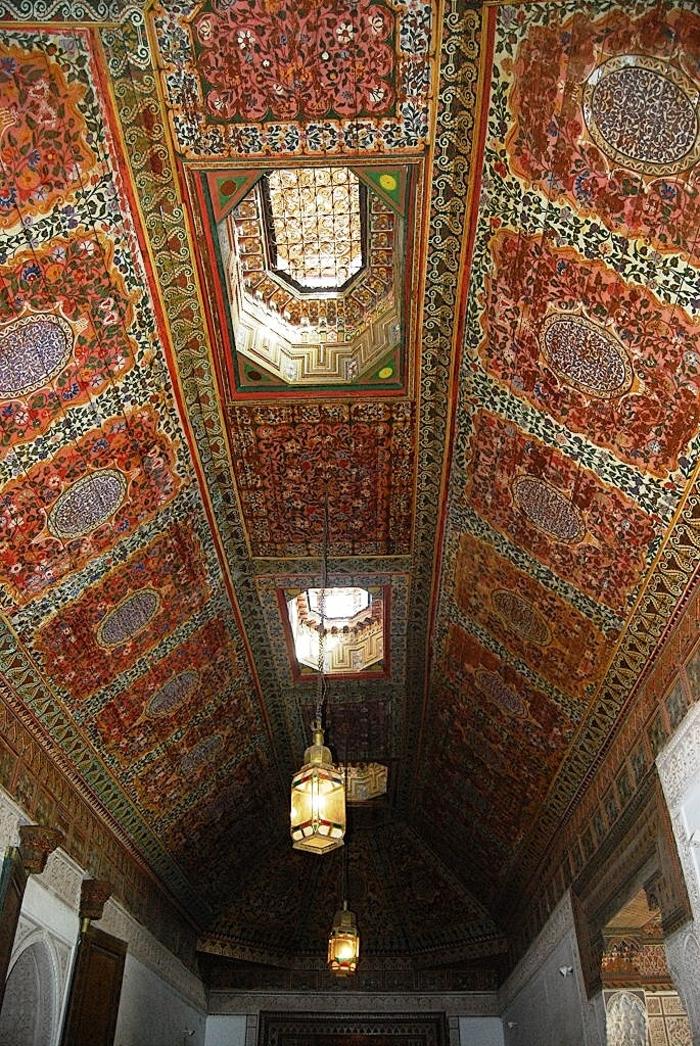 Palais de la Bahia - Plafonds en cédre