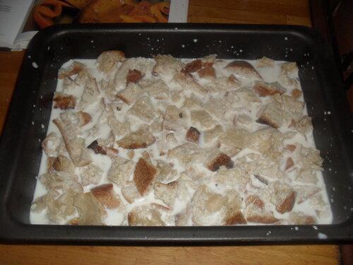 Comment utiliser les restes de pain...pudding à la banane et aux cranberries