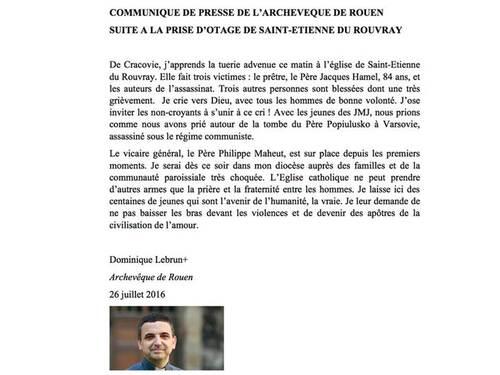 26/07/2016 : prise d'otages de Saint Etienne du Rouvray