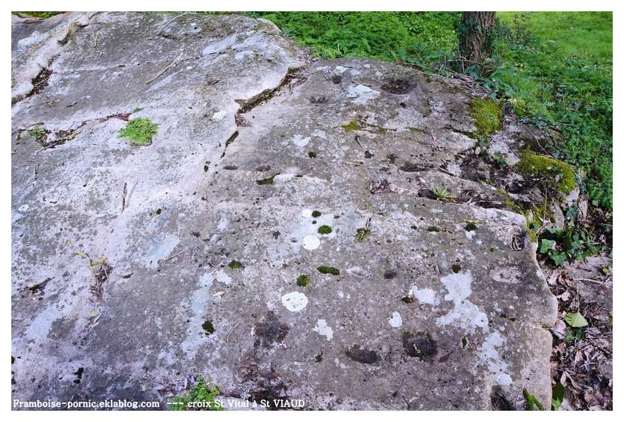 La Croix St Vital et la pierre à cupules de St Viaud