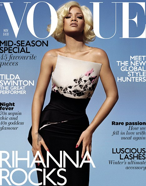 "RIHANNA EN COUVERTURE DU MAGAZINE ""VOGUE"""