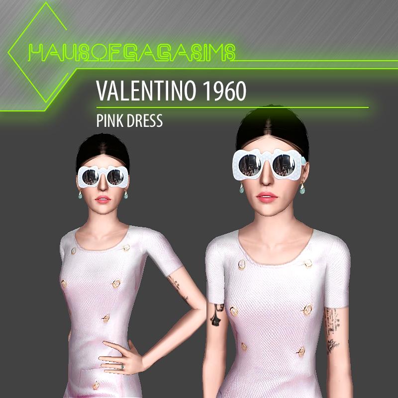 VALENTINO 1960 PINK DRESS