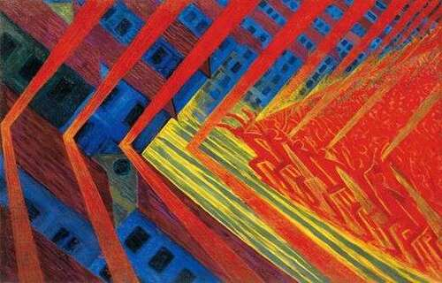 Le futurisme de 1910/1911 à 1918, puis dans les années 20.