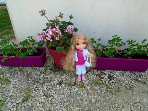 Raiponce au jardin