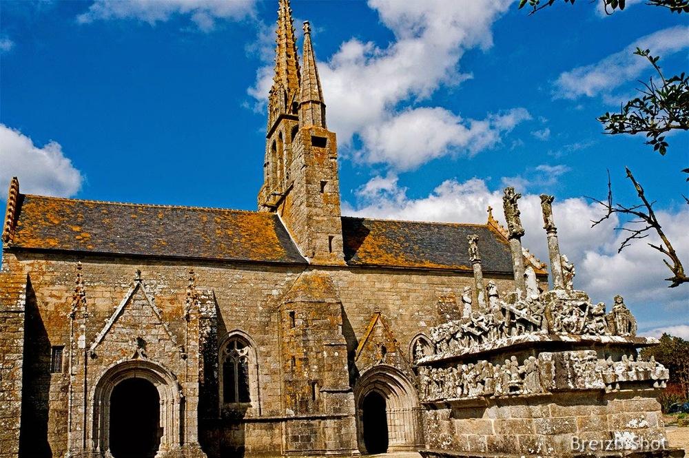 Tronoën, chapelle,calvaire