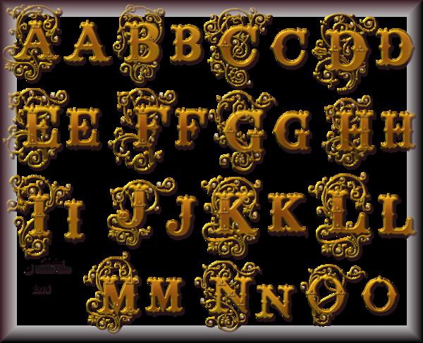 Tube Alphabets 2974 et 2975