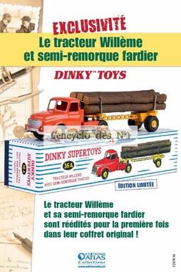 Tracteur Willème et semi-remorque Fardier Dinky Toys - Hors-série