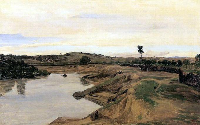 la promenade de Poussin dans la campagne italienne