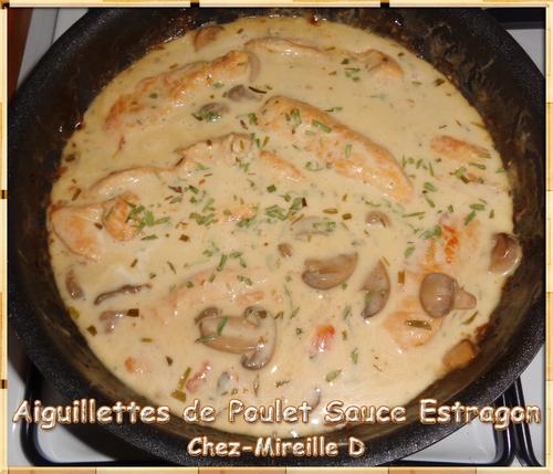 Aiguillettes de Poulet Sauce Estragon