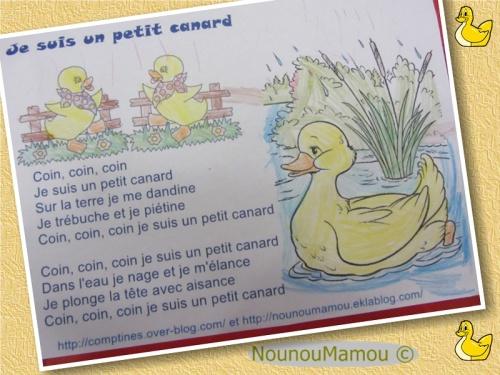 Comptine illustrée : Je suis un petit canard