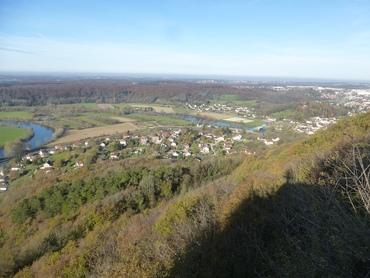 Belvédère du Rocher de Valmy - Panorama sur la Vallée du Doubsbs