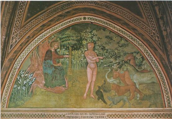 Adam dans le Paradis terrestre, Bartolo di Fredi