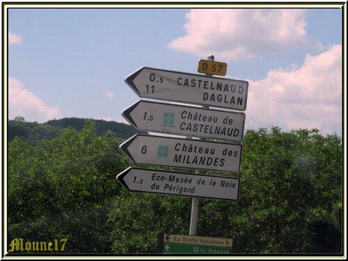 Le château de Castelnaud en Dordogne
