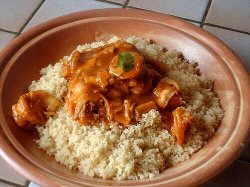 Crevettes piquantes au curry de madras et jus corsé