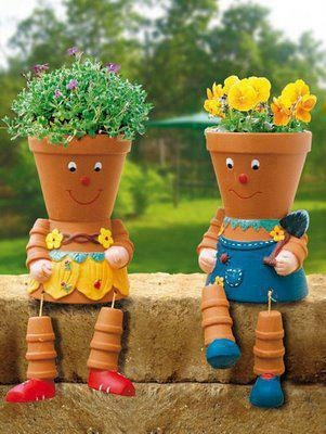 Smiling planters!: