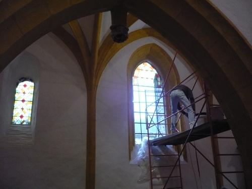 Reprise des travaux de finition à l'église