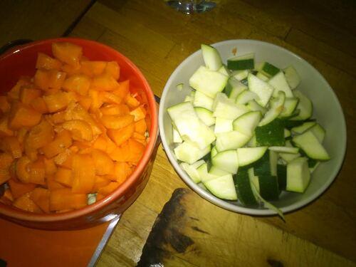 """Boulgourotto petits légumes et feta """"qu'est-ce que je vais bien pouvoir cuisiner ce midi"""""""