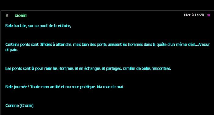 Le Grand Pont vers la Sainte Victoire . Commentaire de Corinne .