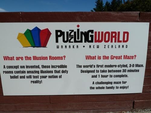 à Wanaka le musée des illusions