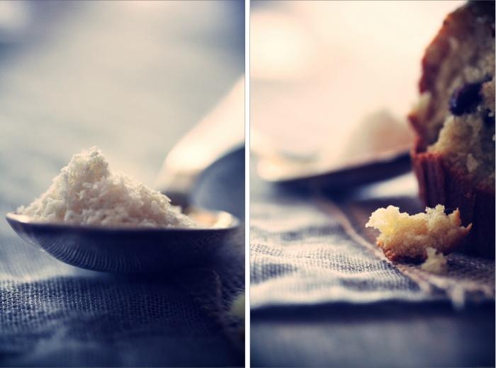 Muffins au coco et à la Pralinoise