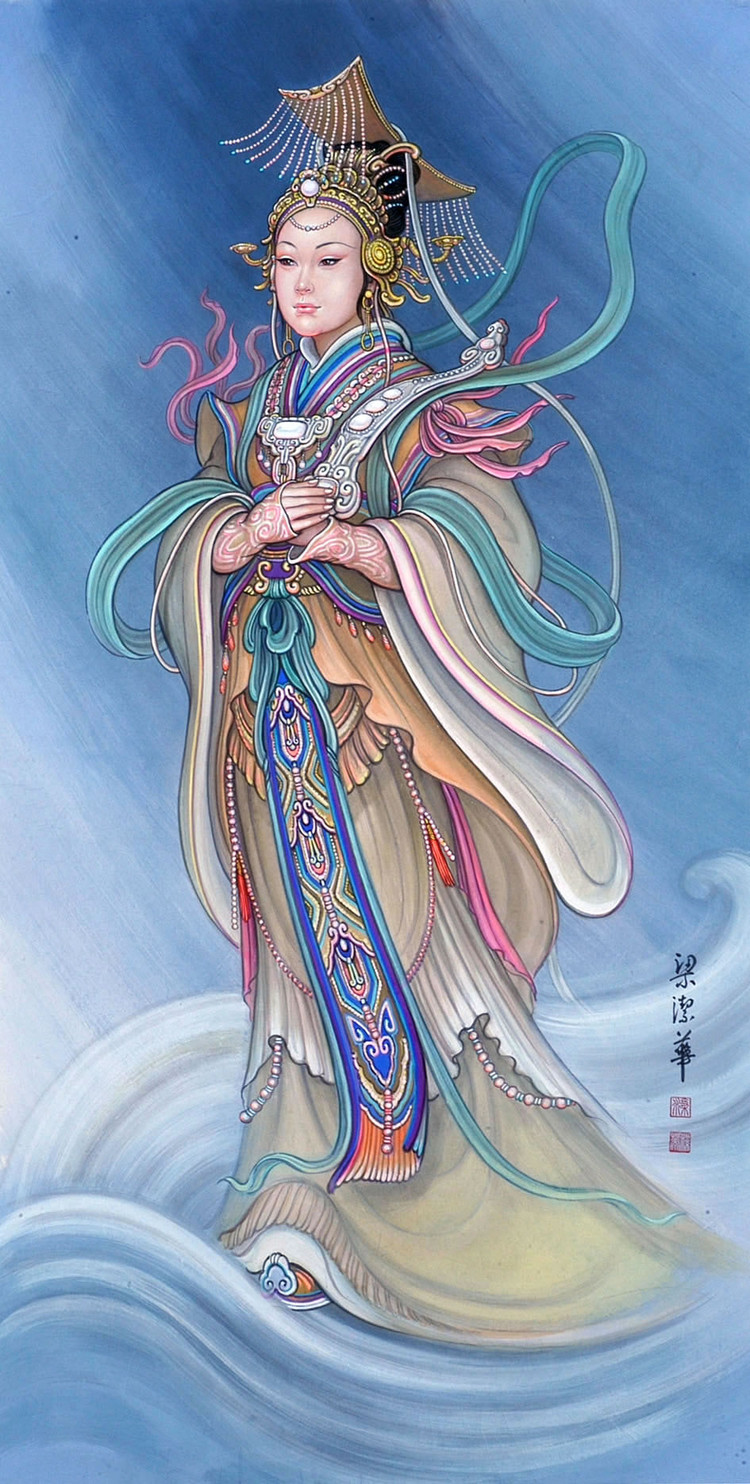 中国画家梁洁华的古代画