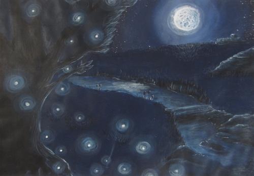 Monochorme bleu - clair de lune-