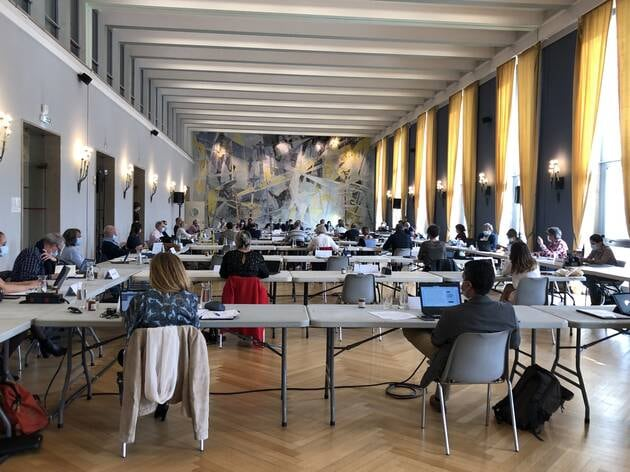 Le conseil municipal de Lorient se tient ce jeudi 1eravril 2021 à l'hôtel de ville. Il est retransmis en vidéo sur internet.