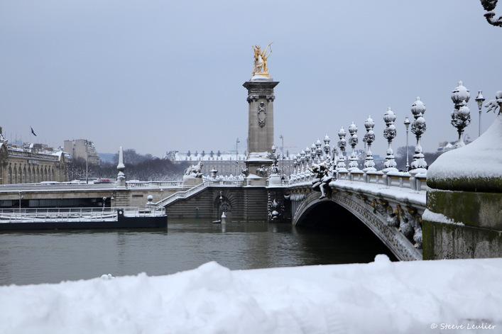 La Seine du Pont de la Concorde au Pont Alexandre III, Paris