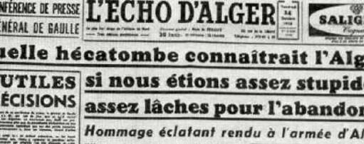 De Gaulle conferense du octobre 1958