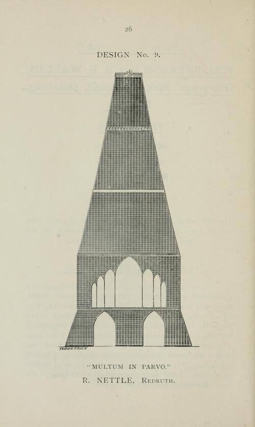 plans de Londres en 1890 pour rivaliser avec la Tour Eiffel