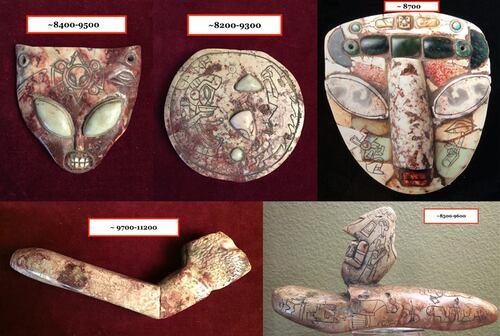 Artefacts du Mexique.